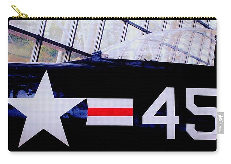 Aircraft Carry-all Pouch featuring the photograph Insignia by Benjamin Yeager