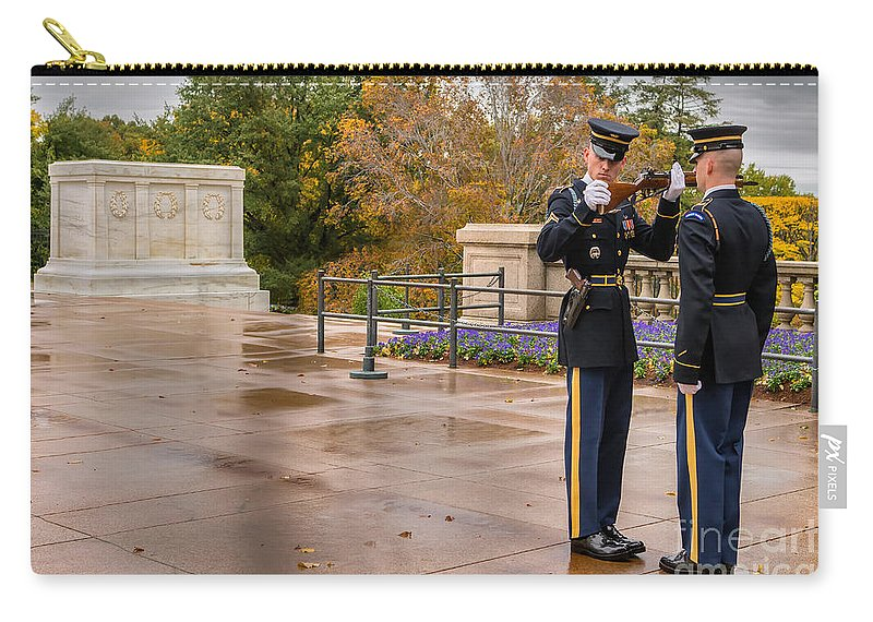 Arlington Cemetery Carry-all Pouch featuring the photograph Inspection by Jerry Fornarotto