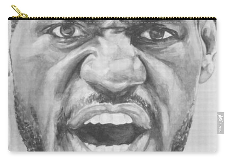 Lebron Carry-all Pouch featuring the painting Intensity Lebron James by Tamir Barkan