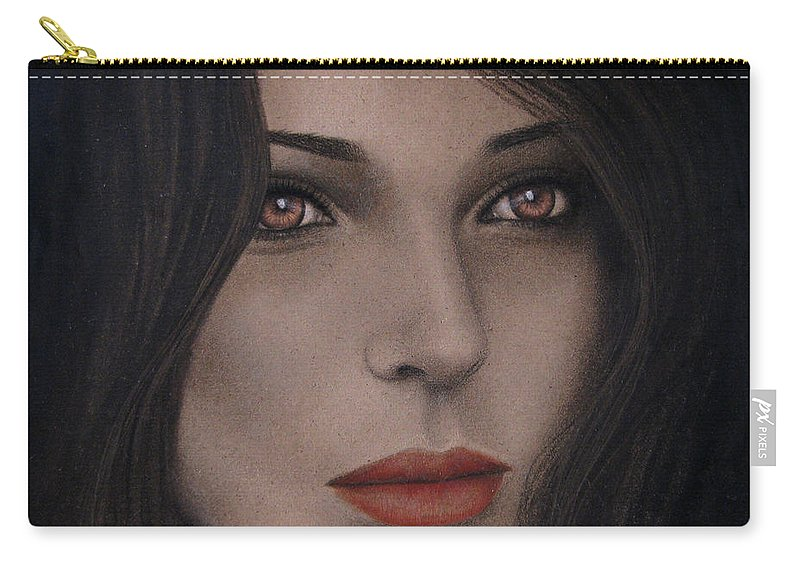 Intensity Carry-all Pouch featuring the painting Intensity by Lynet McDonald