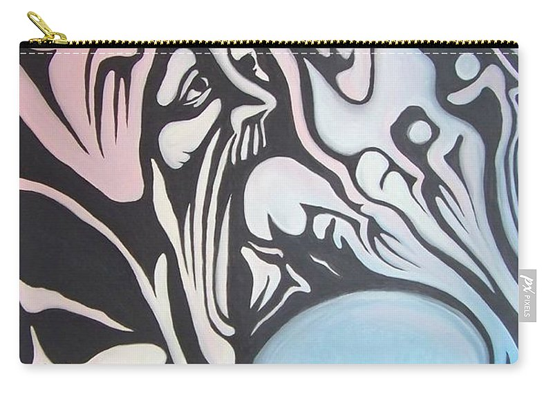 Tmad Carry-all Pouch featuring the painting Intensity by Michael TMAD Finney
