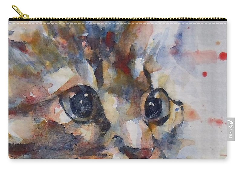 Cat Carry-all Pouch featuring the painting Intent by Paul Lovering