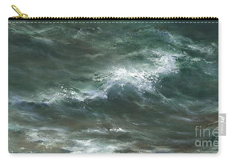 Water Carry-all Pouch featuring the painting Interlude by Sharon Abbott-Furze