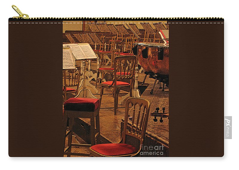 Music Carry-all Pouch featuring the photograph Intermission by Ann Horn