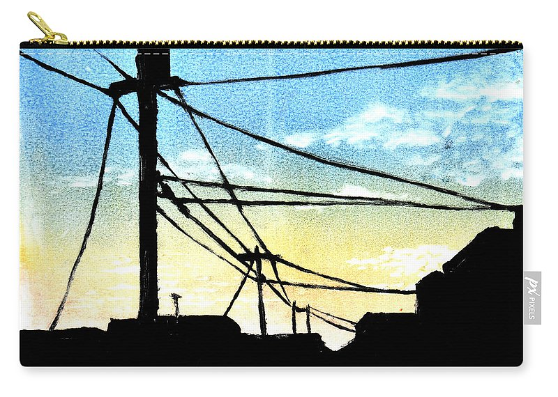Natural Beauty Carry-all Pouch featuring the painting Interruption by Melissa Peterson
