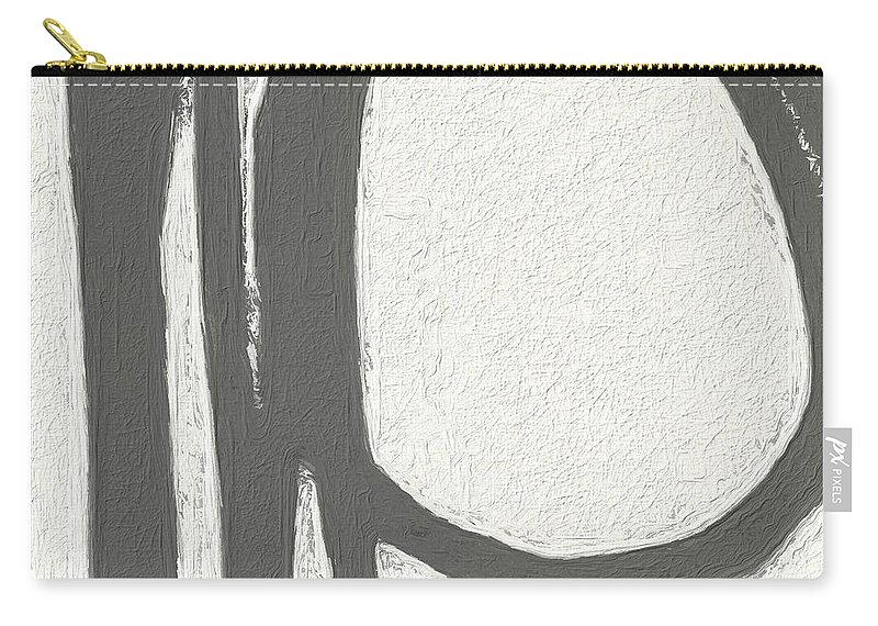 Abstract Carry-all Pouch featuring the painting Intersection by Linda Woods