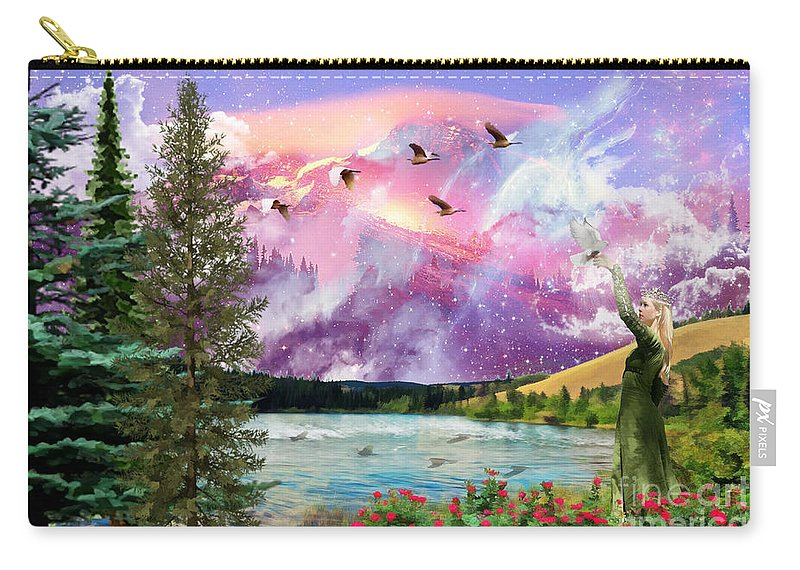 Bride Of Christ Intimacy With Christ Carry-all Pouch featuring the digital art Intimacy With Christ by Dolores Develde