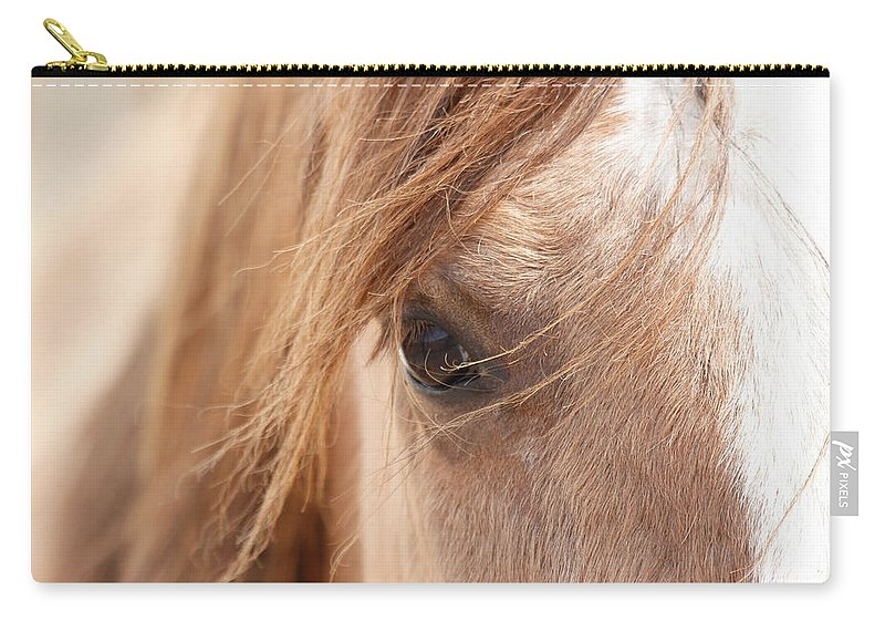 Horses Carry-all Pouch featuring the photograph Into My Soul by Athena Mckinzie