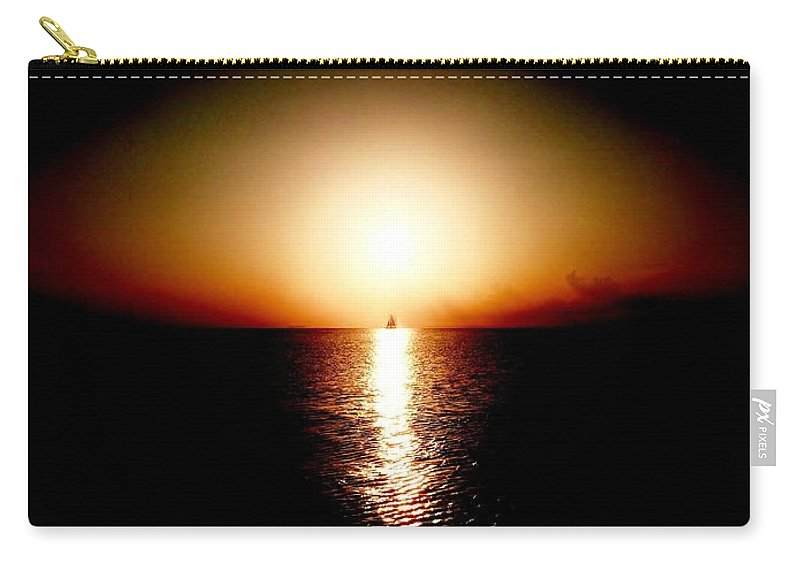 Color Carry-all Pouch featuring the photograph Into Sunset by Amar Sheow
