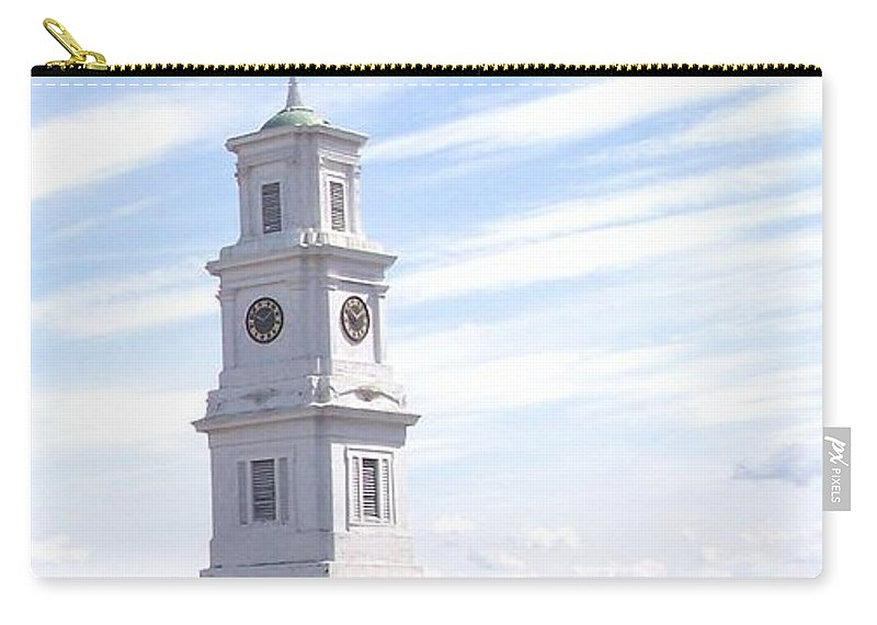 Architecture Carry-all Pouch featuring the photograph Into The Blue by Pharris Art