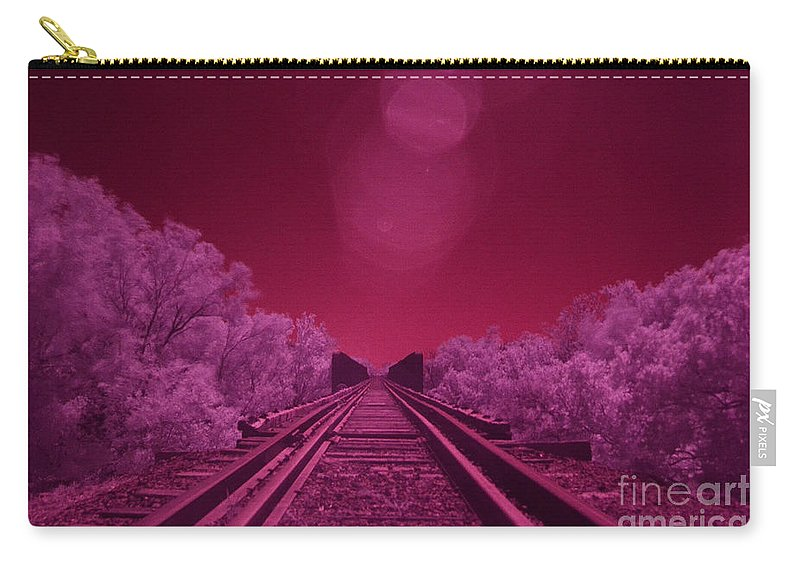 Railroad Carry-all Pouch featuring the photograph Into The Darkness Of Light by Derry Murphy