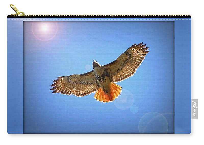 Digital Art Carry-all Pouch featuring the photograph Into The Light by Carol Groenen