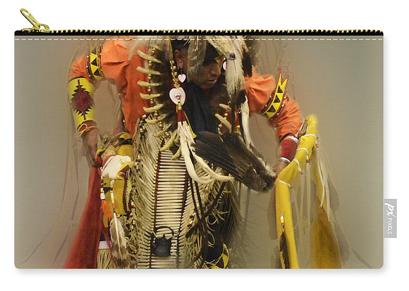 Pow Wow Carry-all Pouch featuring the photograph Pow Wow Into The Mystic by Bob Christopher