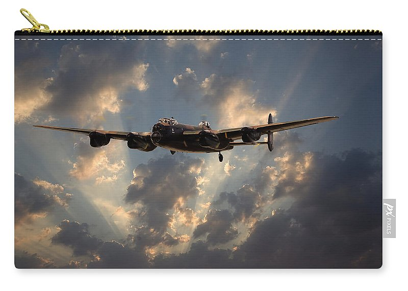 Aircraft Carry-all Pouch featuring the digital art Into The Night by Pat Speirs