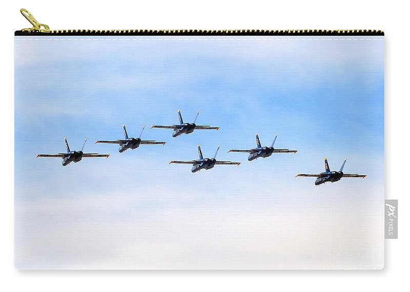 Blue Angels Carry-all Pouch featuring the photograph Into The Sunset by Bob Hislop