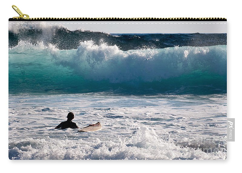 Australia Carry-all Pouch featuring the photograph Into The Surf by Rick Piper Photography