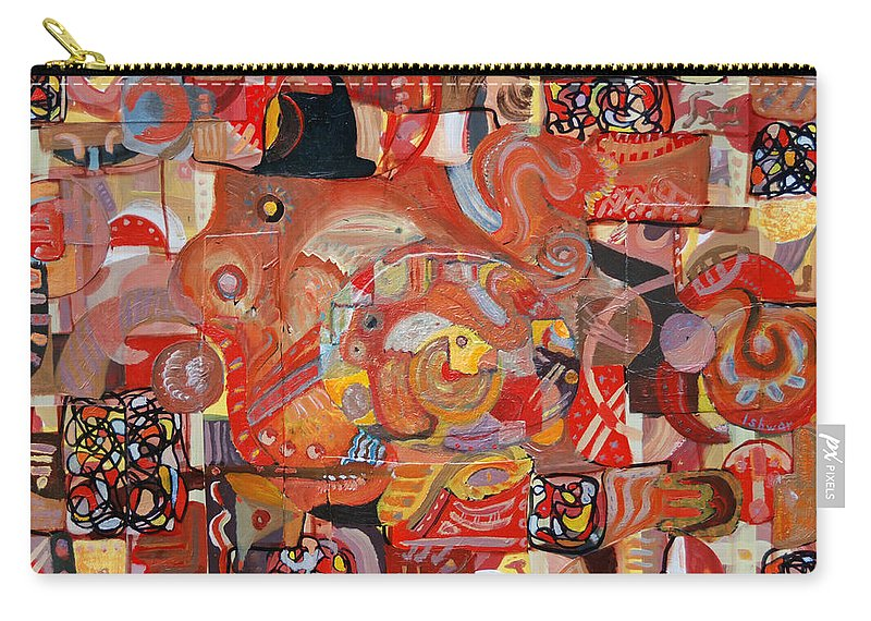 Symbolism Carry-all Pouch featuring the painting Intricacies by Ishwar Malleret