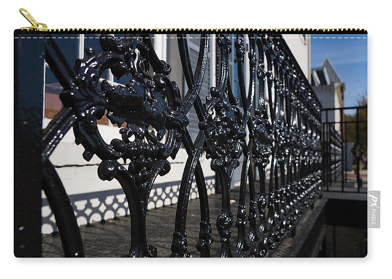 Intricate Carry-all Pouch featuring the photograph Intricate Georgetown Shapes And Shadows - Washington D C by Georgia Mizuleva