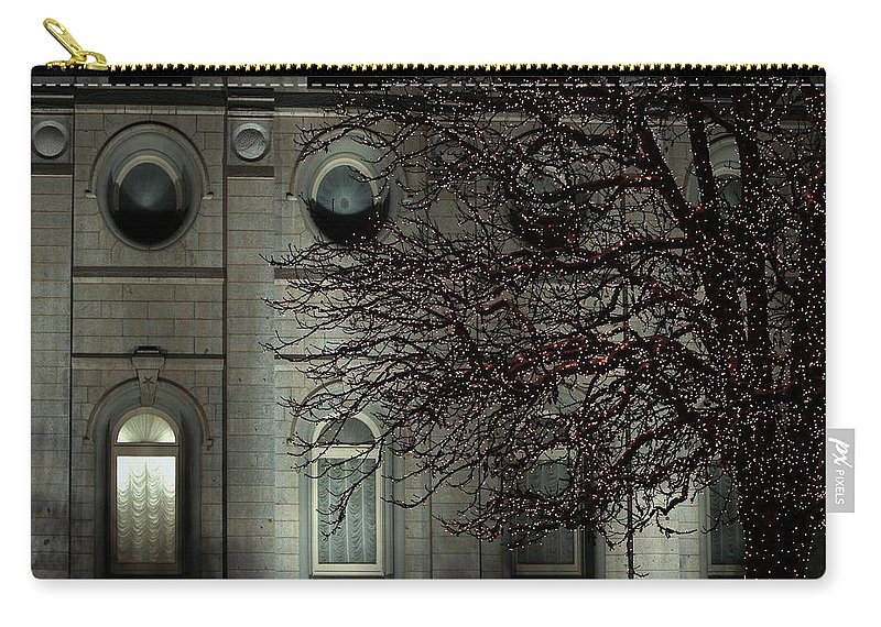 Christmas Lights Carry-all Pouch featuring the photograph Intricate Lights by David Andersen