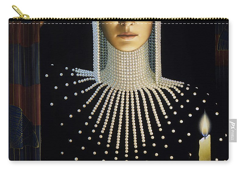 Intrique Carry-all Pouch featuring the painting Intrigue by Jane Whiting Chrzanoska