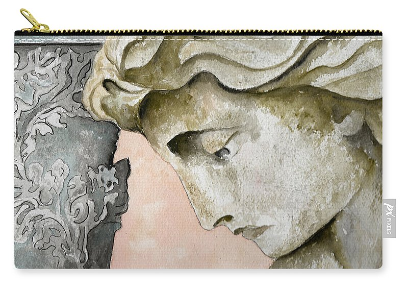 Watercolor Carry-all Pouch featuring the painting Introspective by Brenda Owen