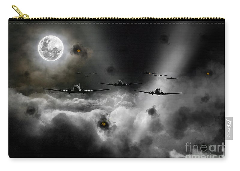 C47 Carry-all Pouch featuring the digital art Invasion Of Europe by Airpower Art