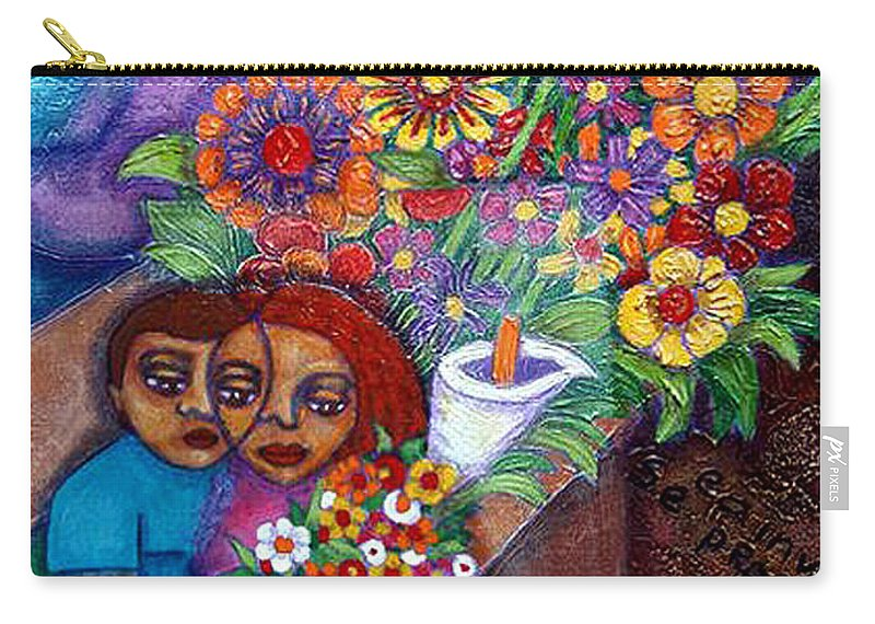 Invention Of Love Carry-all Pouch featuring the painting Invention Of Love Closer by Madalena Lobao-Tello