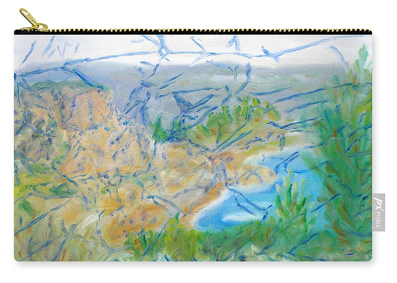 Invisible World Carry-all Pouch featuring the painting Invisible World Over Landscape by Augusta Stylianou