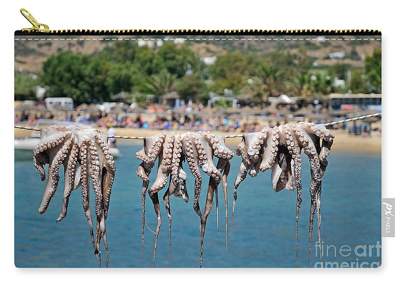 Ios Carry-all Pouch featuring the photograph Mylopotas Beach by George Atsametakis
