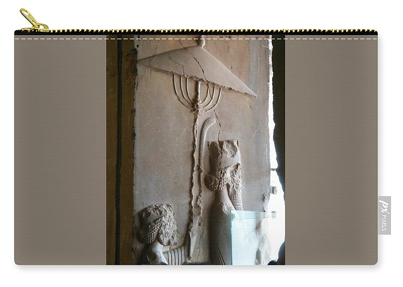 Iran Carry-all Pouch featuring the photograph Iran Ancient Umbrella by Lois Ivancin Tavaf