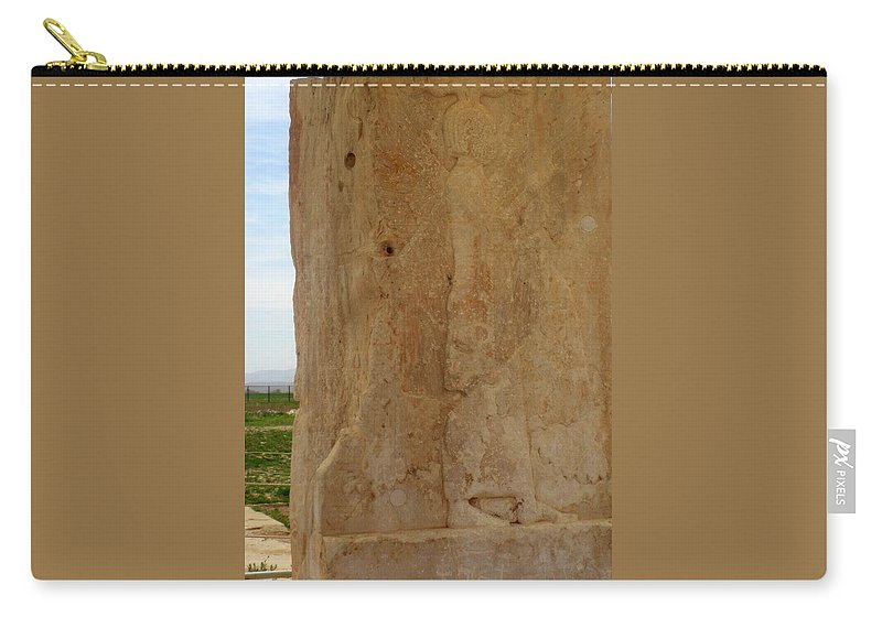 Cyrus The Great. Pasargadae Carry-all Pouch featuring the photograph Iran Cyrus The Great by Lois Ivancin Tavaf