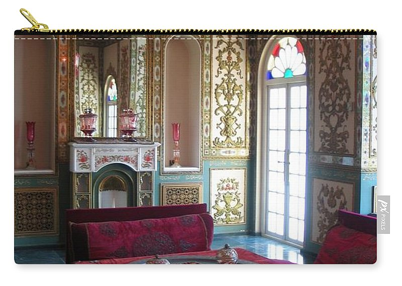 Iran Carry-all Pouch featuring the photograph Iran Golestan Palace Interior by Lois Ivancin Tavaf