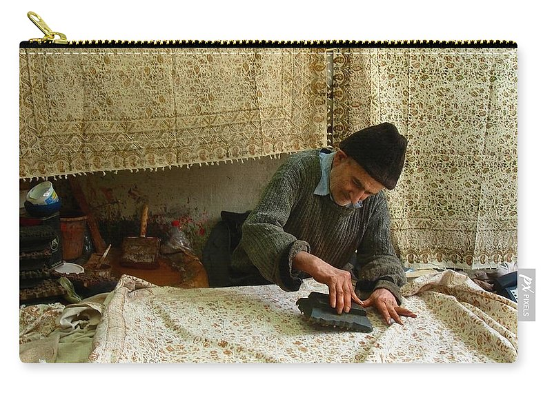 Artisan Carry-all Pouch featuring the photograph Iran Isfahan Artisan by Lois Ivancin Tavaf