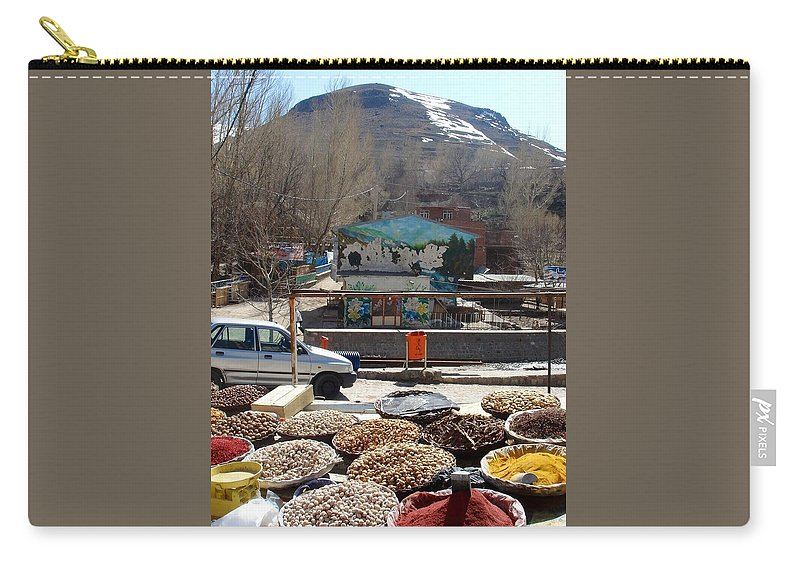Spices Carry-all Pouch featuring the photograph Iran Kandovan Spices by Lois Ivancin Tavaf