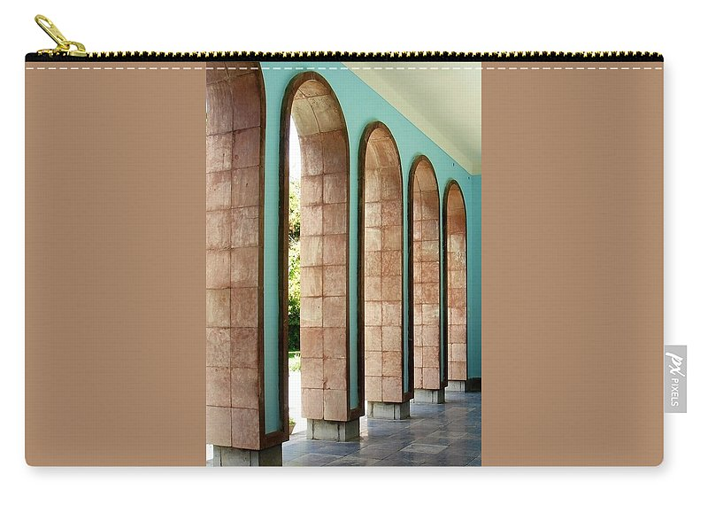 Saadi Carry-all Pouch featuring the photograph Iran Saadi Monument Shiraz by Lois Ivancin Tavaf