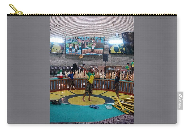House Of Strength Carry-all Pouch featuring the photograph Iran Yazd House Of Strength by Lois Ivancin Tavaf