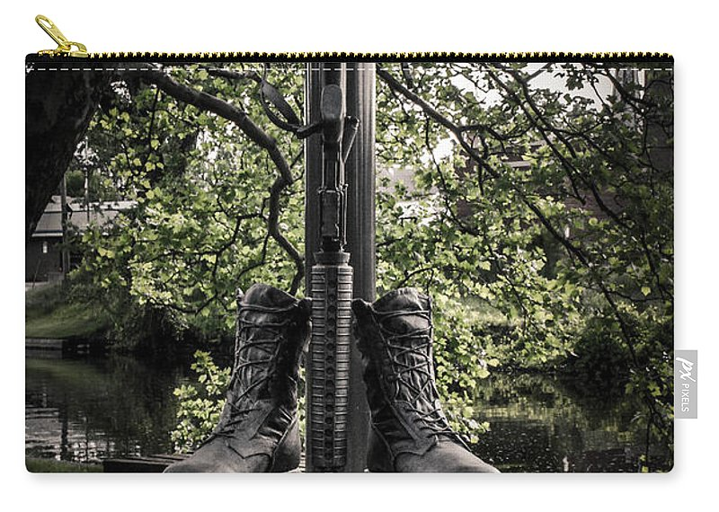 Eaton Rapids Carry-all Pouch featuring the photograph Iraqui Freedom Memorial by Grace Grogan