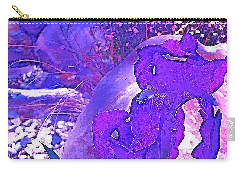 Flowers Carry-all Pouch featuring the photograph Iris 2 by Pamela Cooper