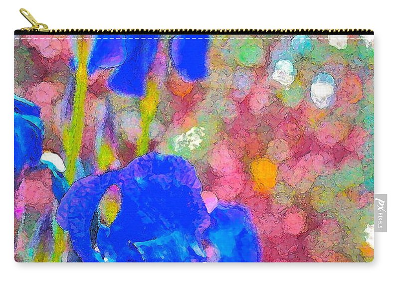 Floral Carry-all Pouch featuring the photograph Iris 22 by Pamela Cooper