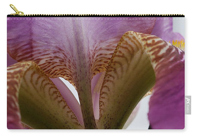 Blue Carry-all Pouch featuring the photograph Iris 28 Reaching For The Sky by Allen Beatty