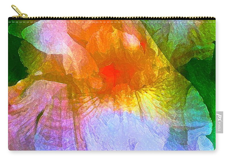 Floral Carry-all Pouch featuring the photograph Iris 53 by Pamela Cooper