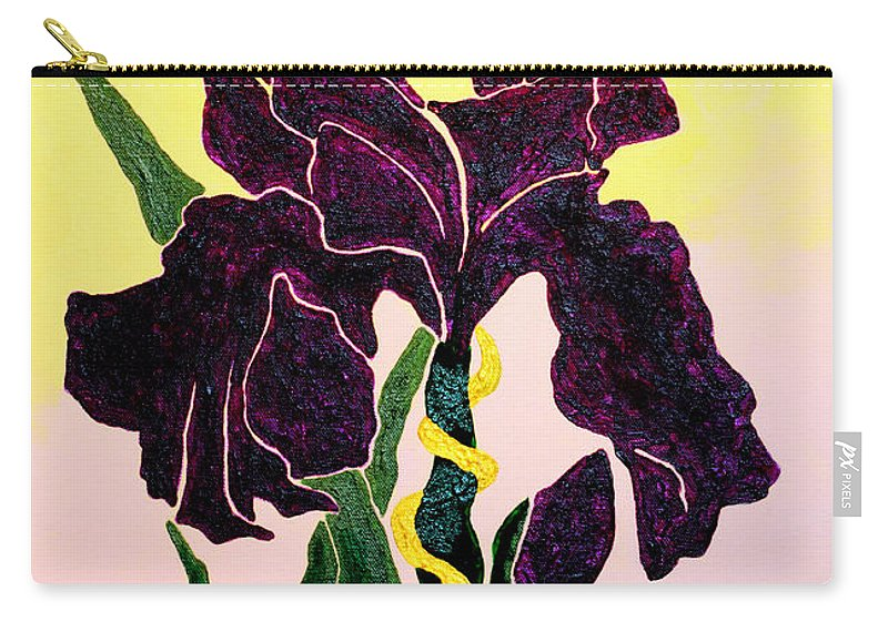 Iris Carry-all Pouch featuring the painting Iris by Andrew Petras