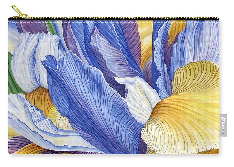Iris Carry-all Pouch featuring the painting Iris by Jane Girardot