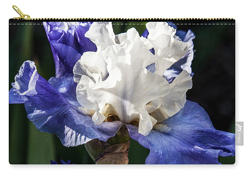 Flowers Carry-all Pouch featuring the photograph Stairway To Heaven Iris by Roselynne Broussard