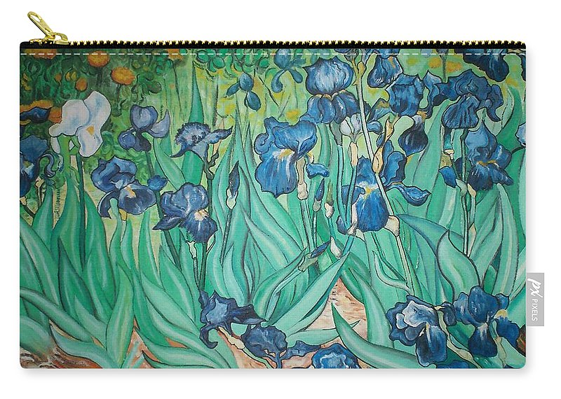 Vincent Van Gogh Carry-all Pouch featuring the painting Irises by Gary Hogben