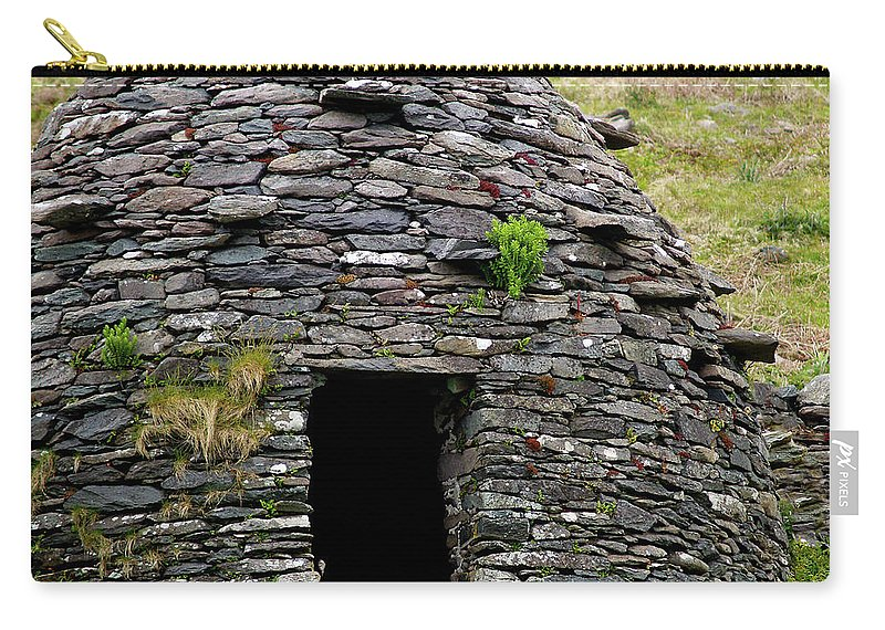 Beehive House Carry-all Pouch featuring the photograph Irish Beehive House by Patricia Griffin Brett