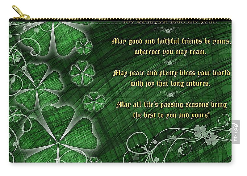 Holiday Carry-all Pouch featuring the photograph Irish Blessing by Shannon Story