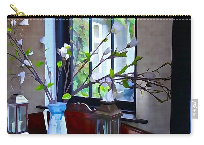 Window Carry-all Pouch featuring the photograph Irish Elegance by Charlie and Norma Brock