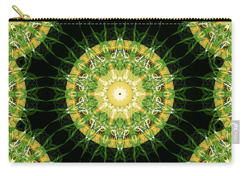 Irish Carry-all Pouch featuring the mixed media Irish Influence 4 Part 2 by Angelina Vick