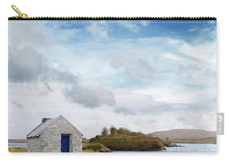 Water's Edge Carry-all Pouch featuring the photograph Irish Landscape In Connemara by Narvikk